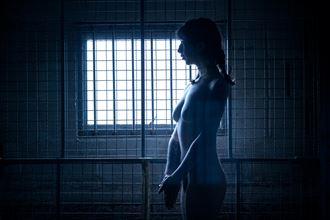 artistic nude silhouette photo by photographer eric frazer