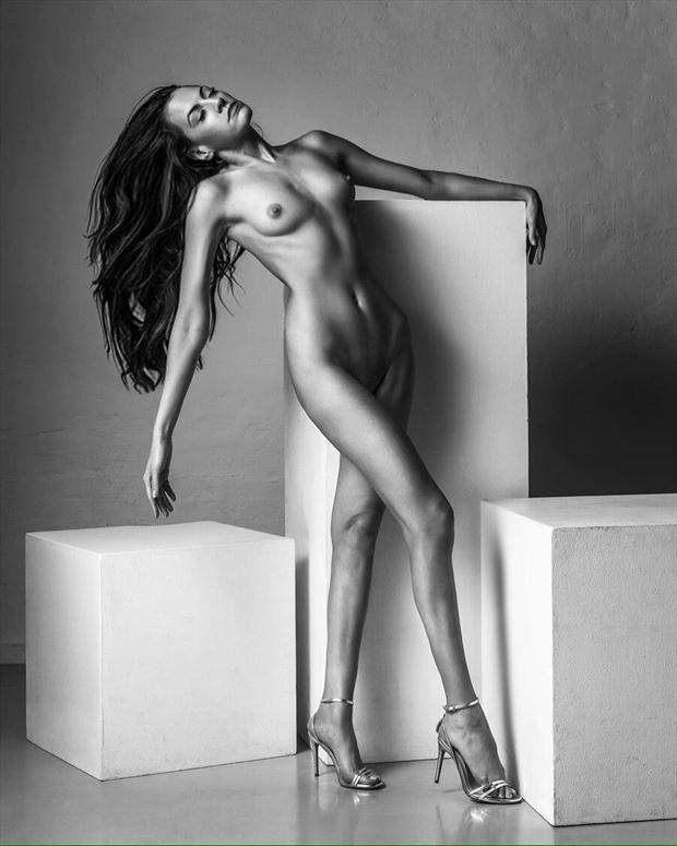 artistic nude studio lighting artwork by model rebecca perry