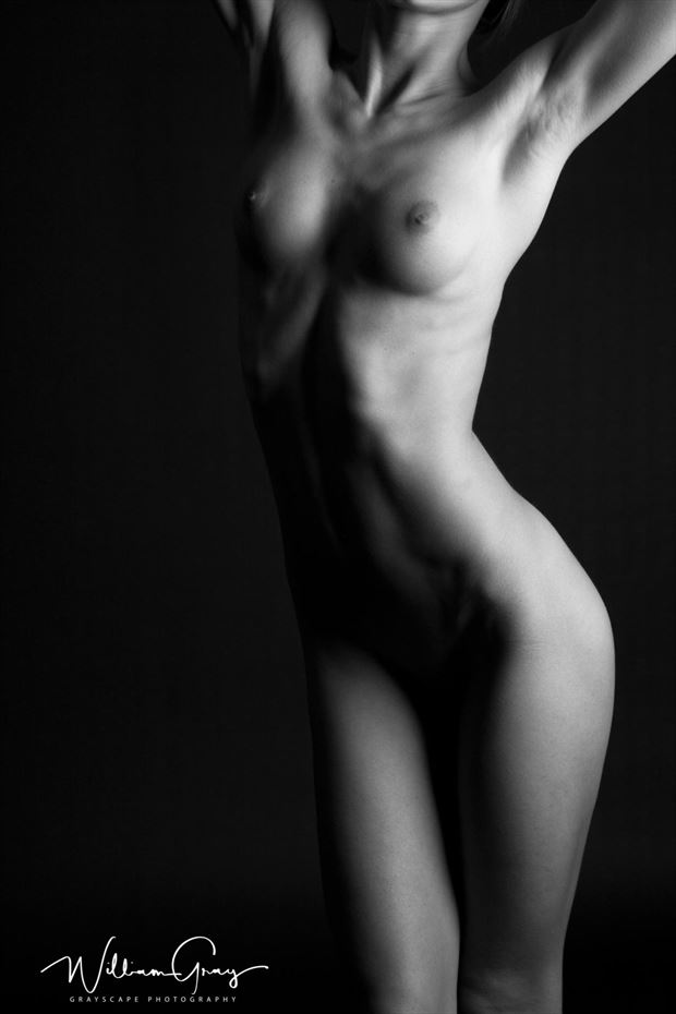 artistic nude studio lighting artwork by photographer grayscape photography