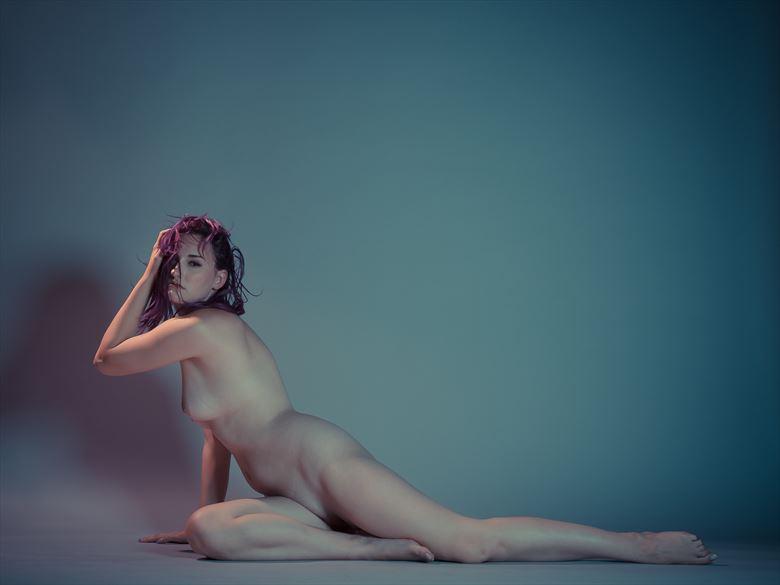 artistic nude studio lighting photo by model becca briggs