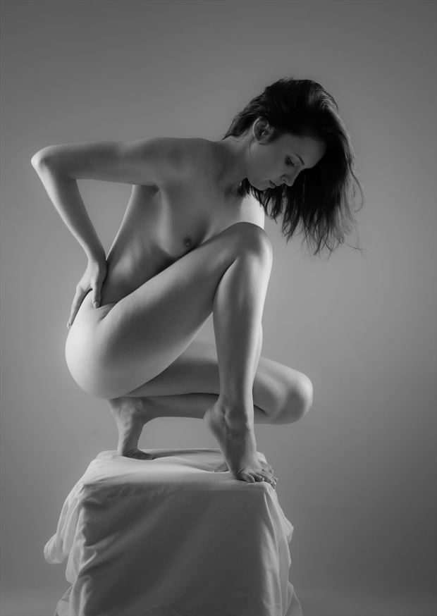artistic nude studio lighting photo by model domme claire