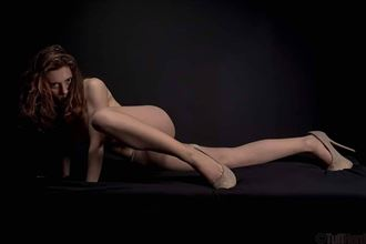 artistic nude studio lighting photo by model ellecata