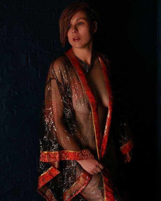 artistic nude studio lighting photo by model kai