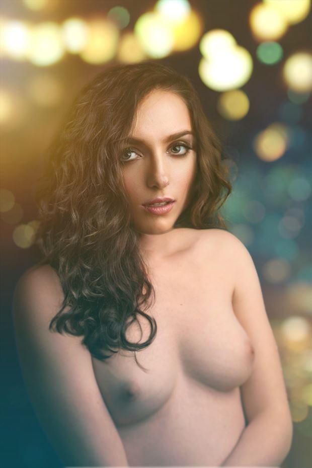 artistic nude studio lighting photo by model rae randall