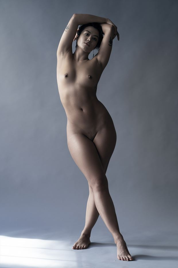 artistic nude studio lighting photo by model thedarkmotherkali