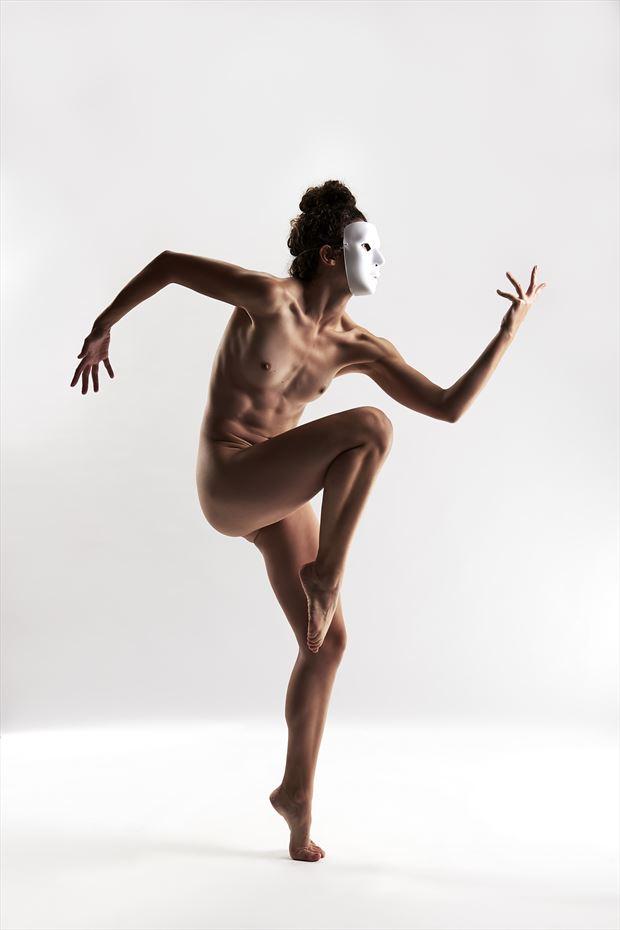 artistic nude studio lighting photo by model vivian cove