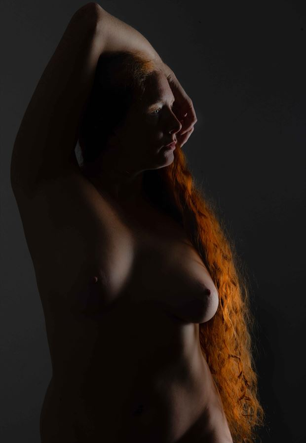 artistic nude studio lighting photo by model xaina fairy