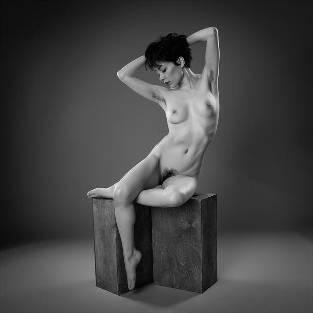 artistic nude studio lighting photo by photographer paul brady