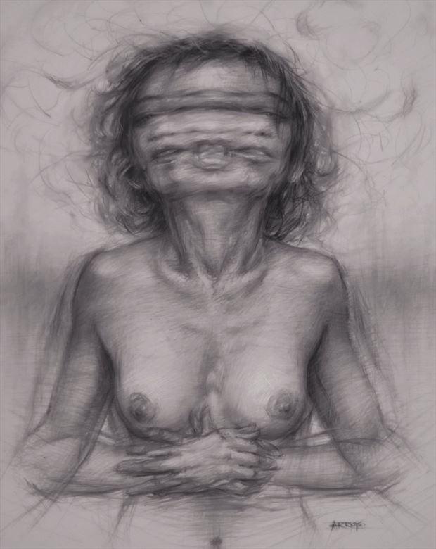 artistic nude surreal artwork by artist jarroyoart