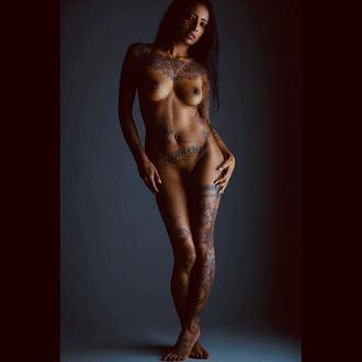 artistic nude tattoos photo by model savannah sapphire