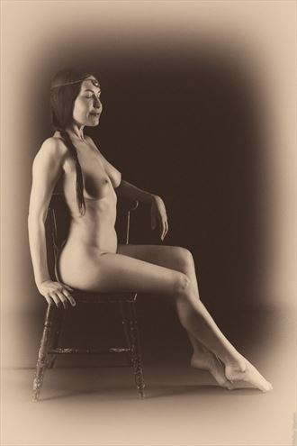 artistic nude vintage style photo by photographer mikewarren