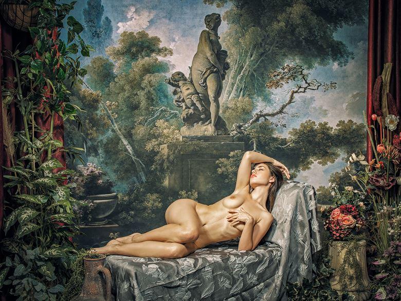 artistic nude vintage style photo by photographer pinturero