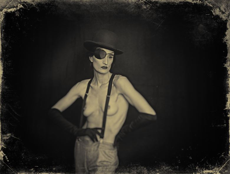 artistic nude vintage style photo by photographer stevelease