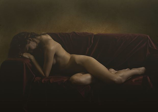artistic nude vintage style photo by photographer tfa photography