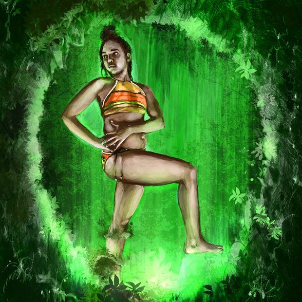 ashphord 1 bikini artwork by artist nick kozis