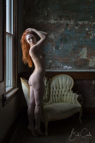 astrid at the window artistic nude photo by photographer bill cole