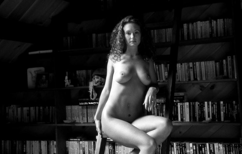 at the bookcase Artistic Nude Photo by Photographer Glamour Images by Richmond