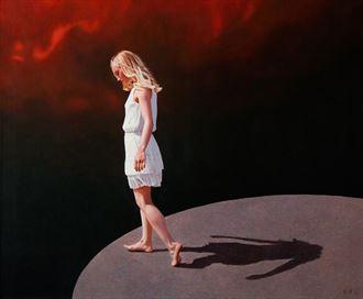 at the edge portrait artwork by artist bjornn