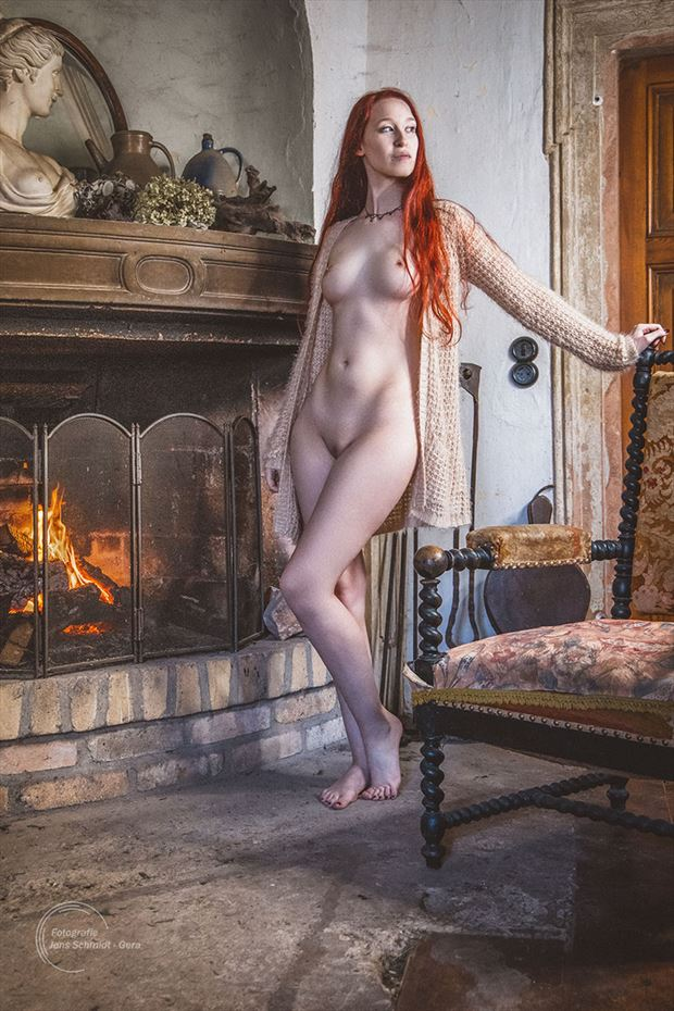 at the fireplace erotic artwork by photographer jens schmidt