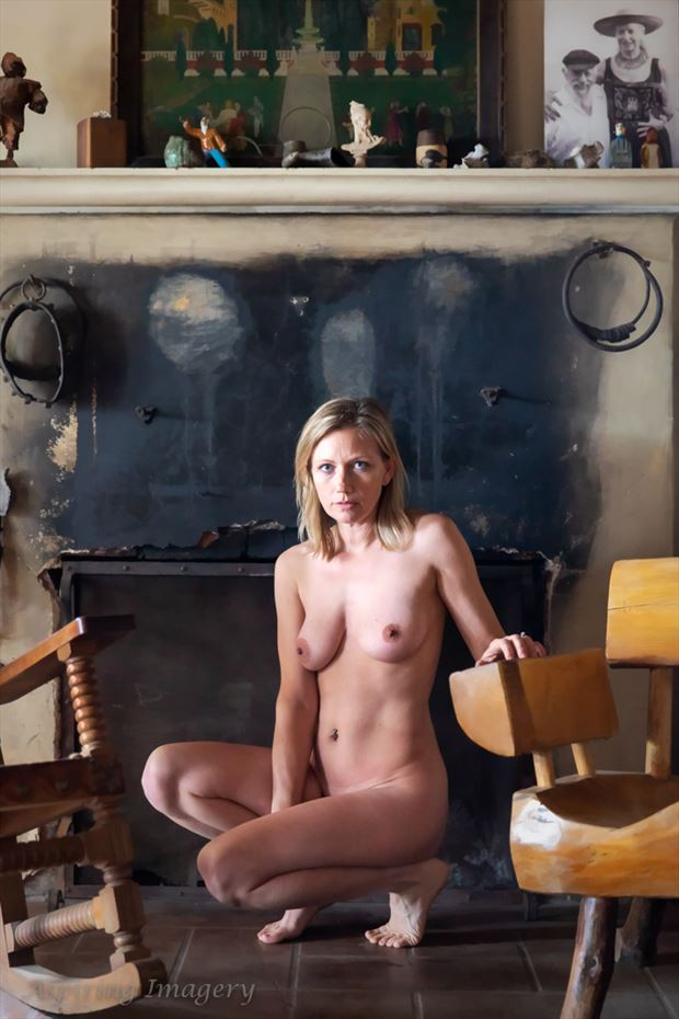 at the hearth artistic nude photo by photographer aspiring imagery