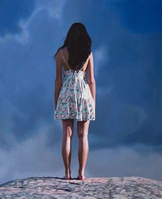 at the top portrait artwork by artist bjornn