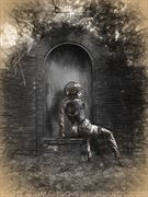 athena sketch surreal artwork by artist scott grimando