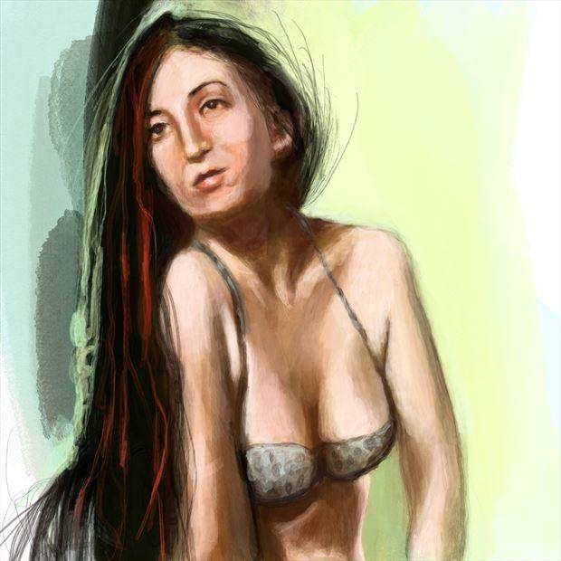 aurora 2 bikini artwork by artist nick kozis