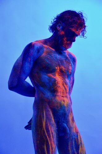 aurora boreale body painting artwork by photographer studio phap
