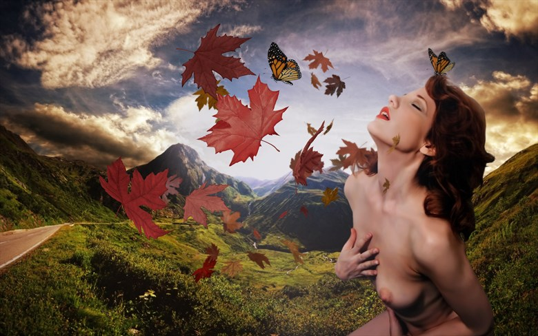 autum Artistic Nude Photo by Artist paul bellaby