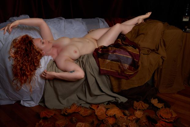 autumn leaves artistic nude photo by photographer tfa photography