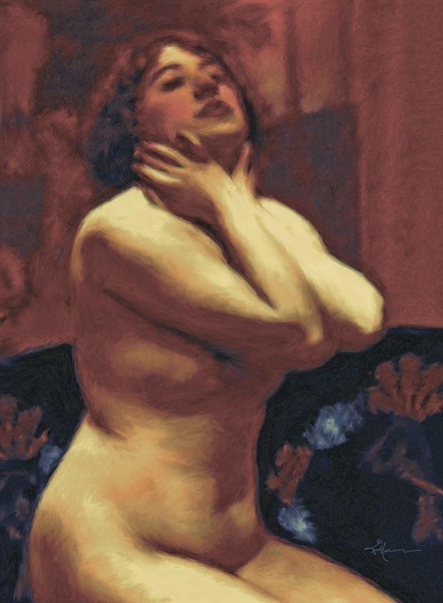awakening artistic nude artwork by artist van evan fuller