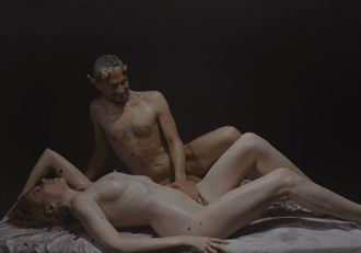 bacchante satyr artistic nude photo by photographer fashionmedia