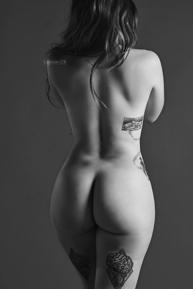 back artistic nude photo by photographer germansc