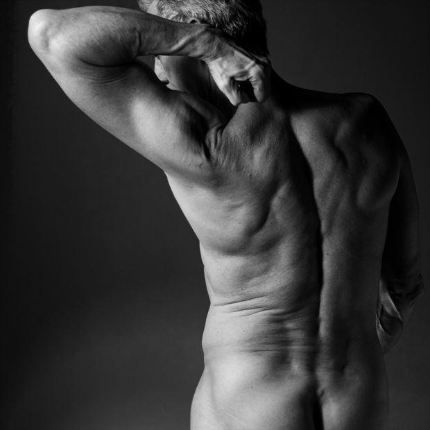 back definition artistic nude artwork by model artfitnessmodel