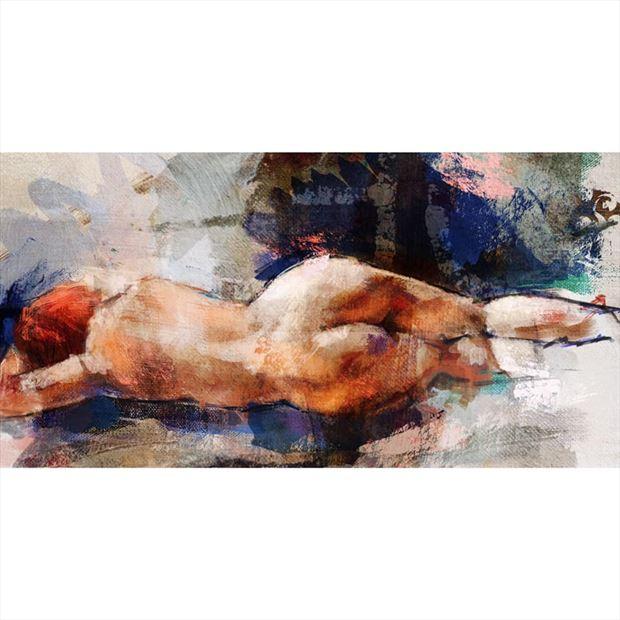 back sensual artwork by artist jond