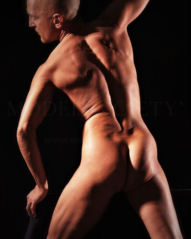 backup artistic nude photo by model avid light