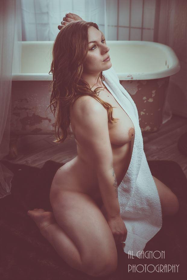 bath glamour artistic nude photo by photographer al gagnon