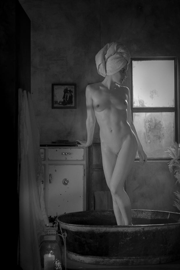 bath time artistic nude photo by model madelainee