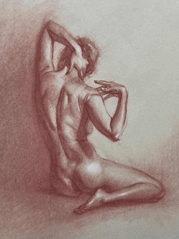 beatrice back artistic nude artwork by artist edoism