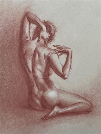 beatrice back artistic nude artwork by artist edoism