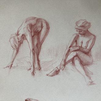 beatrice studies 1 artistic nude artwork by artist edoism