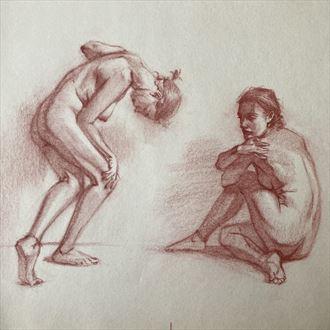 beatrice studies 2 artistic nude artwork by artist edoism