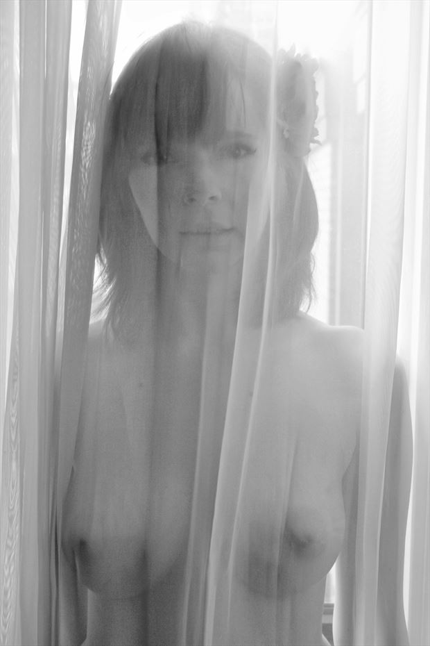 beatrix in the curtains artistic nude photo by photographer the hungry eye