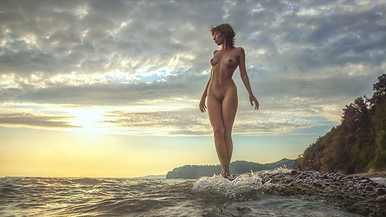beautiful sunset Artistic Nude Photo by Photographer dml