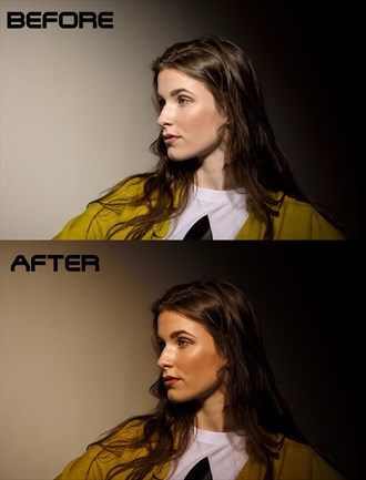before after  Studio Lighting Photo by Artist paul bellaby