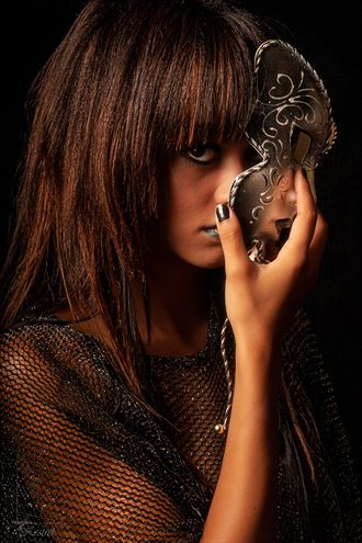 behind the mask portrait photo by photographer kestrel