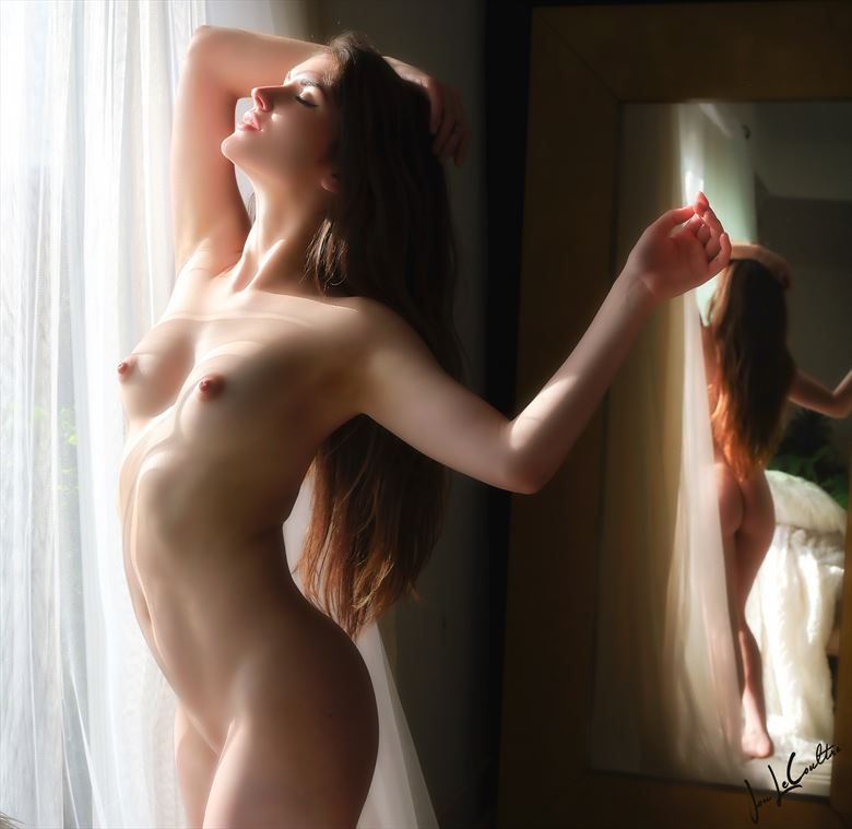 bella in the morning light artistic nude photo by photographer jon lecoultre