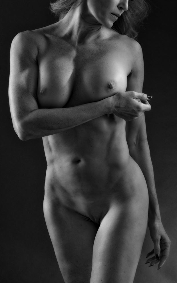 between the lights artistic nude photo by photographer rick jolson