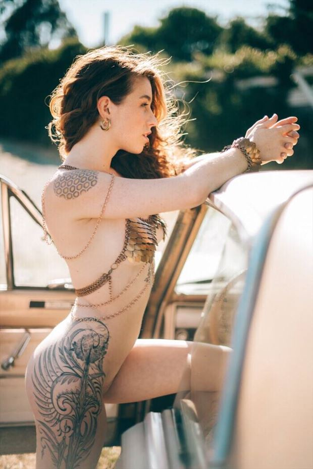 big dragon energy tattoos artwork by model kisa hues