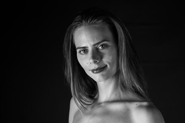 black and white portrait experimental artwork by photographer gsphotoguy